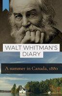 Walt Whitman s Diary