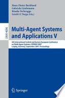 Multi Agent Systems and Applications V Book