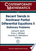 Recent Trends in Nonlinear Partial Differential Equations Book