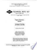 Organic Chemistry Section  Summary of Activities July 1968 to June 1969