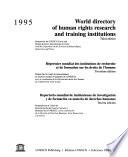 Repertorio Mundial de Instituciones de Investigación Y de Formación en Materia de Derechos Humanos