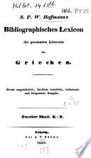 Bibliographisches Lexicon der gesammten Litteratur der Griechen