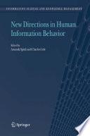 New Directions in Human Information Behavior Book