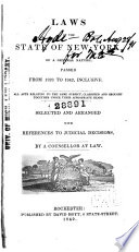 Laws of the State of New York  of a General Nature  Passed from 1828 to 1842  Inclusive