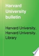 Harvard University Bulletin