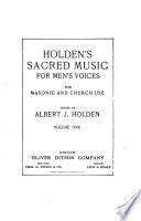 Holden's Sacred Music for Men's Voices