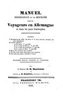 Manuel d'Engelmann et de Reichard pour les voyageurs en Allemagne et dans les pays limitrophes ...