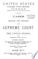 Reports of Cases Argued and Decided in the Supreme Court of the United States Book