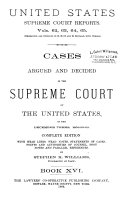 Pdf Reports of Cases Argued and Decided in the Supreme Court of the United States