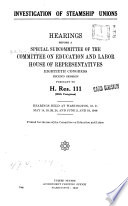 Investigation of Steamship Unions