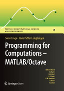 Programming for Computations   MATLAB Octave
