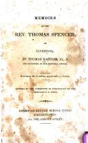 Memoirs of the Rev. Thomas Spencer: Of Liverpool