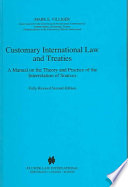 DownloadCustomary International Law and TreatiesFull Book