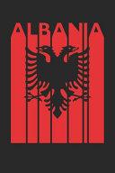 Vintage Albania Notebook   Retro Albania Planner   Albanian Flag Diary   Albania Travel Journal