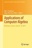 Cover image of Applications of Computer Algebra : Kalamata, Greece, July 20–23 2015