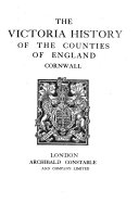 The Victoria History of the County of Cornwall