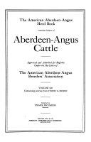 American Aberdeen Angus Herd Book Book