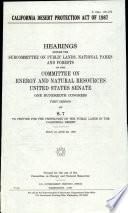 California Desert Protection Act of 1987