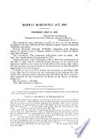 Highway Right of way Act  1940  Hearing    on S  3105   May 9  1940