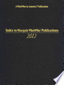 Index to Mww Publications 2012