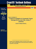 Outlines and Highlights for Successful Project Management by Jack Gido  James P Clements  Isbn