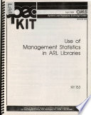 Use Of Management Statistics In Arl Libraries