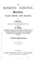The Banking Almanac  Directory  Year Book and Diary