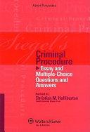 Siegels Criminal Procedure