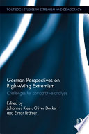 German Perspectives On Right Wing Extremism