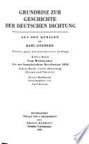 Grundriß zur Geschichte der deutschen Dichtung : aus den Quellen. Bd. 11 :. Vom Weltfrieden bis zur Französischen Revolution 1830