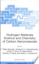 Hydrogen Materials Science and Chemistry of Carbon Nanomaterials Book