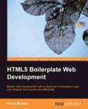 HTML5 Boilerplate Web Development [Pdf/ePub] eBook