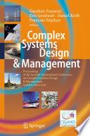 Complex Systems Design   Management