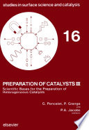 Preparation Of Catalysts Iii Book PDF
