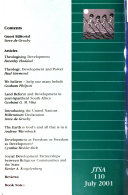 Journal Of Theology For Southern Africa