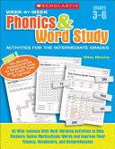 Week by week Phonics and Word Study