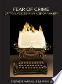 Fear of Crime Book PDF