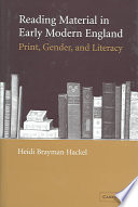 Reading Material in Early Modern England