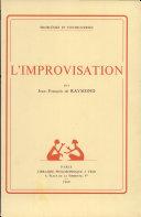 L'improvisation