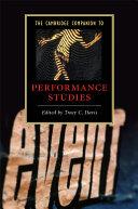 The Cambridge Companion to Performance Studies