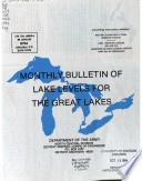 Monthly Bulletin of Lake Levels for the Great Lakes