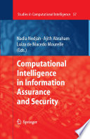 Computational Intelligence In Information Assurance And Security Book PDF