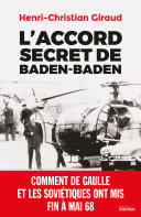 Pdf L'Accord secret de Baden-Baden Telecharger