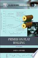 Primer on Flat Rolling Book