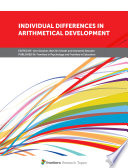 Individual Differences in Arithmetical Development