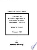 An Audit of the California Department of Corrections' Program Management Contractor