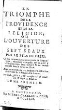 Le Triomphe De La Providence Et De La Religion Ou L'Ouverture Des Sept Seaux Par Le Fils De Dieu