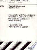 Toxic Substances Control Act (TSCA) chemical substance inventory