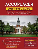 link to ACCUPLACER study guide 2018 : test prep & practice test book for the College Board ACCUPLACER exam in the TCC library catalog