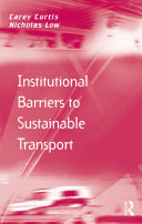 Institutional Barriers to Sustainable Transport Pdf/ePub eBook